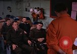 Image of briefing officer Mediterranean Sea, 1966, second 4 stock footage video 65675052126