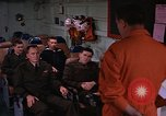 Image of briefing officer Mediterranean Sea, 1966, second 5 stock footage video 65675052126