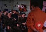 Image of briefing officer Mediterranean Sea, 1966, second 8 stock footage video 65675052126