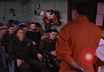 Image of briefing officer Mediterranean Sea, 1966, second 10 stock footage video 65675052126