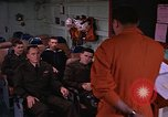 Image of briefing officer Mediterranean Sea, 1966, second 11 stock footage video 65675052126