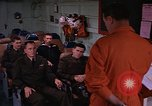 Image of briefing officer Mediterranean Sea, 1966, second 13 stock footage video 65675052126