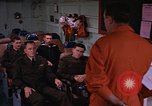 Image of briefing officer Mediterranean Sea, 1966, second 14 stock footage video 65675052126