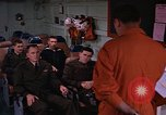 Image of briefing officer Mediterranean Sea, 1966, second 16 stock footage video 65675052126