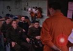 Image of briefing officer Mediterranean Sea, 1966, second 18 stock footage video 65675052126