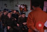 Image of briefing officer Mediterranean Sea, 1966, second 19 stock footage video 65675052126