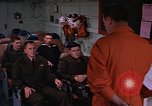 Image of briefing officer Mediterranean Sea, 1966, second 22 stock footage video 65675052126