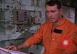 Image of briefing officer Mediterranean Sea, 1966, second 27 stock footage video 65675052126
