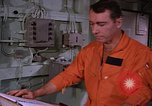 Image of briefing officer Mediterranean Sea, 1966, second 28 stock footage video 65675052126