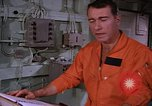 Image of briefing officer Mediterranean Sea, 1966, second 34 stock footage video 65675052126