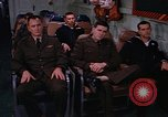 Image of briefing officer Mediterranean Sea, 1966, second 43 stock footage video 65675052126