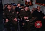 Image of briefing officer Mediterranean Sea, 1966, second 45 stock footage video 65675052126