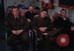 Image of briefing officer Mediterranean Sea, 1966, second 47 stock footage video 65675052126