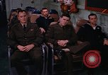 Image of briefing officer Mediterranean Sea, 1966, second 48 stock footage video 65675052126