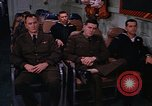 Image of briefing officer Mediterranean Sea, 1966, second 51 stock footage video 65675052126