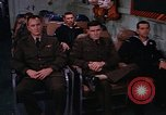 Image of briefing officer Mediterranean Sea, 1966, second 52 stock footage video 65675052126