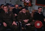 Image of briefing officer Mediterranean Sea, 1966, second 57 stock footage video 65675052126