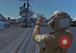 Image of Aircraft Carrier USS Ranger Indian Ocean, 1982, second 5 stock footage video 65675052139