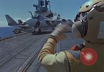 Image of Aircraft Carrier USS Ranger Indian Ocean, 1982, second 7 stock footage video 65675052139
