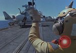 Image of Aircraft Carrier USS Ranger Indian Ocean, 1982, second 10 stock footage video 65675052139