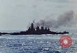 Image of battleships Pacific Ocean, 1945, second 17 stock footage video 65675052148
