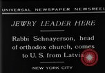 Image of Rabi Schnayerson New York United States USA, 1929, second 8 stock footage video 65675052215