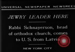 Image of Rabi Schnayerson New York United States USA, 1929, second 9 stock footage video 65675052215