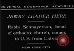 Image of Rabi Schnayerson New York United States USA, 1929, second 12 stock footage video 65675052215