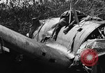 Image of wreckage of Japanese plane Burma, 1944, second 12 stock footage video 65675052238