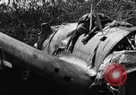 Image of wreckage of Japanese plane Burma, 1944, second 13 stock footage video 65675052238
