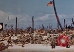 Image of U.S. 4th Marine Division in battle Marshall Islands, 1944, second 26 stock footage video 65675052298