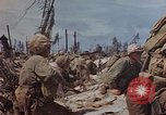 Image of U.S. 4th Marine Division in battle Marshall Islands, 1944, second 47 stock footage video 65675052298