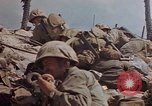 Image of U.S. 4th Marine Division in battle Marshall Islands, 1944, second 51 stock footage video 65675052298