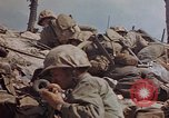 Image of U.S. 4th Marine Division in battle Marshall Islands, 1944, second 52 stock footage video 65675052298