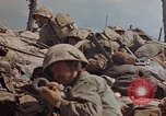 Image of U.S. 4th Marine Division in battle Marshall Islands, 1944, second 53 stock footage video 65675052298