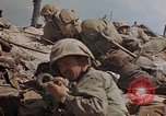 Image of U.S. 4th Marine Division in battle Marshall Islands, 1944, second 55 stock footage video 65675052298