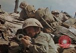 Image of U.S. 4th Marine Division in battle Marshall Islands, 1944, second 56 stock footage video 65675052298