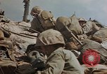 Image of U.S. 4th Marine Division in battle Marshall Islands, 1944, second 57 stock footage video 65675052298