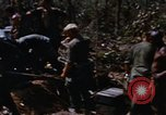 Image of American soldiers at captured VC tunnel complex Vietnam, 1968, second 11 stock footage video 65675052380