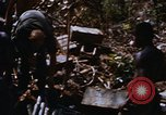 Image of American soldiers at captured VC tunnel complex Vietnam, 1968, second 49 stock footage video 65675052380