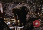 Image of American soldiers at captured VC tunnel complex Vietnam, 1968, second 61 stock footage video 65675052380