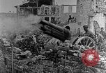 Image of British infantry soldiers firing artillery World War 1 Europe, 1916, second 45 stock footage video 65675052474