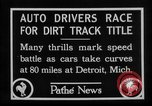 Image of Cliff Woodbury wins AAA Dirt Track Championships Detroit Michigan USA, 1927, second 17 stock footage video 65675052487