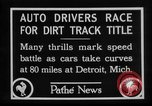 Image of Cliff Woodbury wins AAA Dirt Track Championships Detroit Michigan USA, 1927, second 19 stock footage video 65675052487