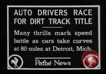 Image of Cliff Woodbury wins AAA Dirt Track Championships Detroit Michigan USA, 1927, second 20 stock footage video 65675052487