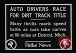 Image of Cliff Woodbury wins AAA Dirt Track Championships Detroit Michigan USA, 1927, second 25 stock footage video 65675052487