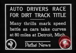 Image of Cliff Woodbury wins AAA Dirt Track Championships Detroit Michigan USA, 1927, second 28 stock footage video 65675052487