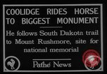 Image of President Calvin Coolidge at Mount Rushmore Black Hills South Dakota USA, 1927, second 3 stock footage video 65675052493