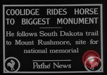 Image of President Calvin Coolidge at Mount Rushmore Black Hills South Dakota USA, 1927, second 5 stock footage video 65675052493