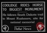 Image of President Calvin Coolidge at Mount Rushmore Black Hills South Dakota USA, 1927, second 8 stock footage video 65675052493